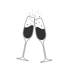 champagne clink vector image