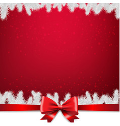 christmas card with firtree border vector image