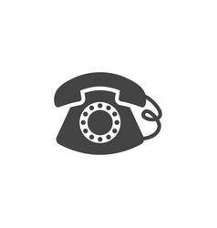 classic telephone icon graphic design template vector image