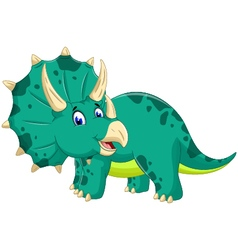 Cute Triceratops cartoon posing vector