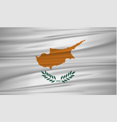 cyprus flag flag of cyprus blowig in the wind vector image