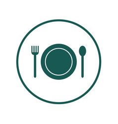 flat icon with cutlery vector image