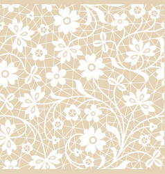 Floral lace vector
