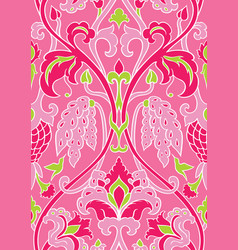 Floral pink pattern for wallpaper vector