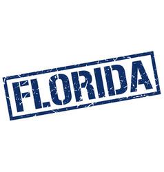 Florida blue square stamp vector