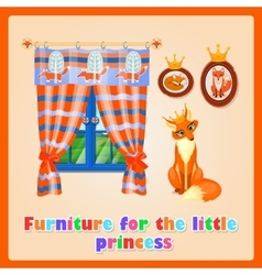 Furniture for the little Princess sly Fox vector