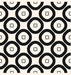 geometric pattern seamless texture with circles vector image