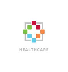 health care symbol logo design templatecre vector image