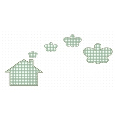 House and smoke resembling butterflies Cute Baby vector