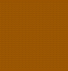 Knitted brown pattern vector
