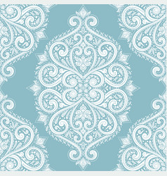 Light blue and white ornamental seamless pattern vector