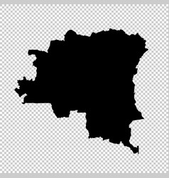 map democratic republic of the congo isolated vector image