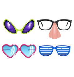 Masquerade glasses celebration funny items vector