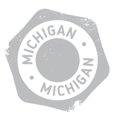 Michigan stamp rubber grunge vector