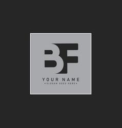 Minimal logo for initial letter bf vector
