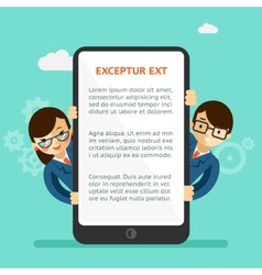 Mobile app presentation vector