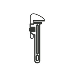 monochrome silhouette with pipe wrench vector image