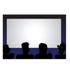 movie audience vector image