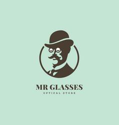 Mr glasses logo vector