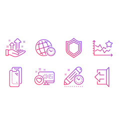 project deadline heart and ranking stars icons vector image