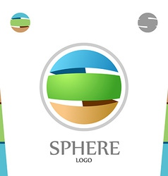 s letter logo template abstract sphere globe vector image