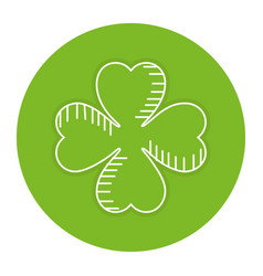 Saint patrick clover icon vector