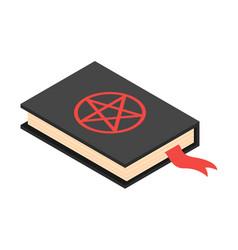 Satan book icon isometric style vector