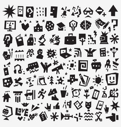 school education - icon set design vector image