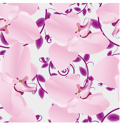 Seamless pattern orchids vector