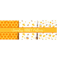 Seamless pattern with honey vector