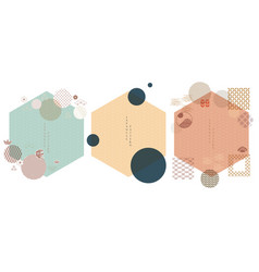 set geometric modern graphic elements asian vector image
