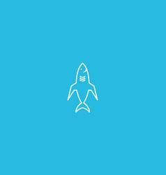 Shark plane lines logo symbol icon design vector