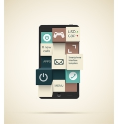 Smartphone apps background vector image