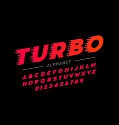 Speed style retro font vector