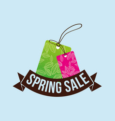 spring sale tag price shopping concept vector image