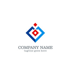 Square abstract company logo vector