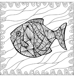 Stylized fish vector