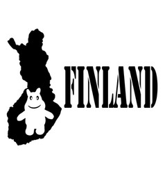 Symbol finland and map vector