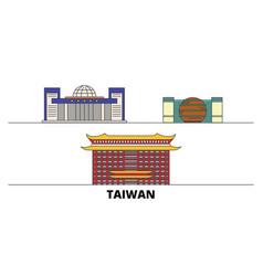 Taiwan new taipei city flat landmarks vector