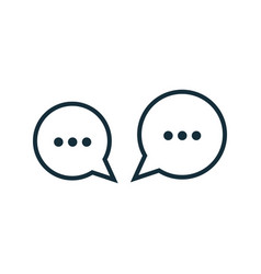 thin line chat speech bubble chatting icon vector image