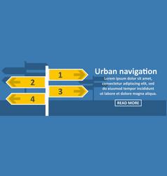 urban navigation banner horizontal concept vector image