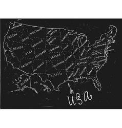 USA Hand Drawn Map 01 A vector