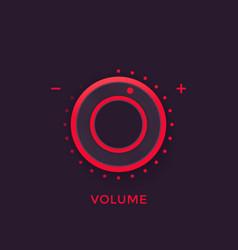 Volume control knob regulator vector