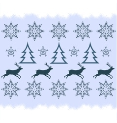 winter sweater design - deer snowflake and vector image