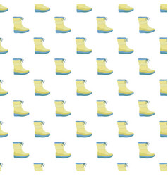 winter warm boot pattern seamless vector image