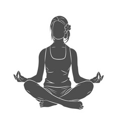 Yoga pose meditating vector