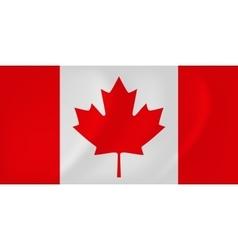 Canada waving flag vector image