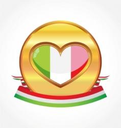 Italian flag vector image vector image
