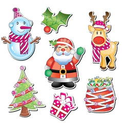 merry christmas element vector image vector image