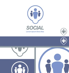 Social Media Dating Network Logo Concept vector image vector image
